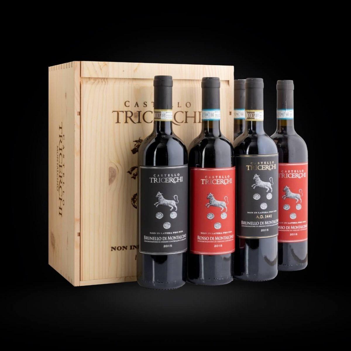 6 Bottiglie Box in Legno